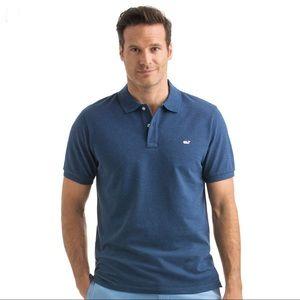 VINEYARD VINES L Polo Shirt Navy Blue Short Sleeve